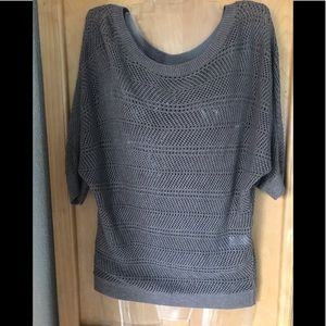 Brown Knit Scoop Neck Sweater
